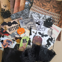 Halloween Witch Inspiration Kit Journal Supplies 1
