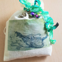 Vintage Style Mermaid Lavender Sachet Bag Home Decor Fragrance