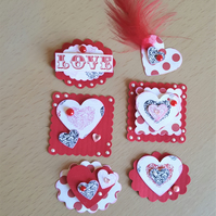 Valentine Heart Card Tag Toppers