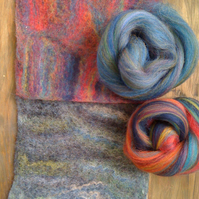 Pack of 2 Variegated handmade felts - made to order