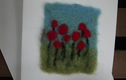 Felted art, mugs, pot stands and coasters.