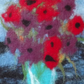 Felted Fibre Art Picture of Gorgeous Flowers in a Vase