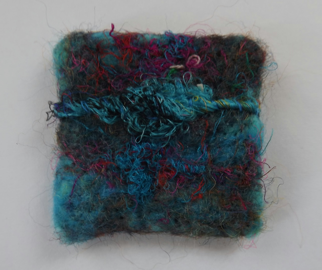 Needle Felted Brooch inspired by the Sea