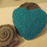 Needle Felted Heart, Love Token, Wedding Favour  - Available in lots of colours