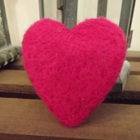 Needle Felted Heart , Love Token, Wedding Favour  - Available in lots of colours