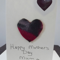 Mother's Day Needle Felted with envelope