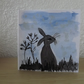 Hand drawn and Painted Hare GreetingsCard