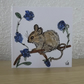 Hand drawn and Painted Mouse GreetingsCard