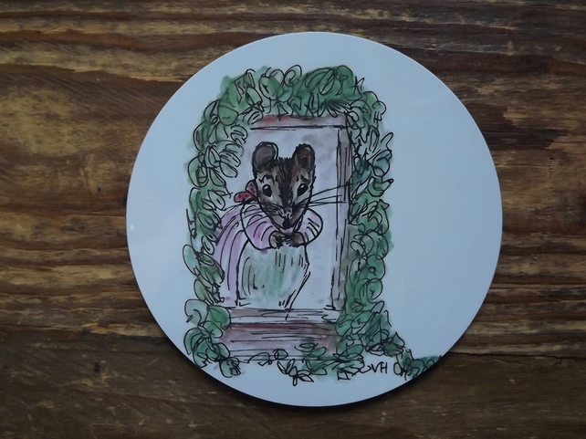Little Tittlemouse inspired coaster from my own drawings