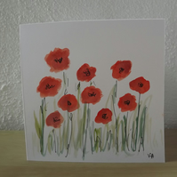 Hand Painted Flower GreetingsCard