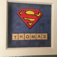 'SUPERMAN' 3d comic book inspired hanging picture