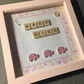 'Baby girl' scrabble letters new baby gift