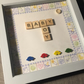 'Baby Boy' scrabble tile picture gift