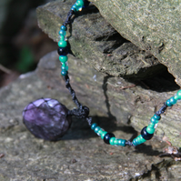 Necklace with charoite