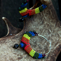 Macrame rainbow earrings