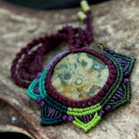 Tribal necklace with rhyolite