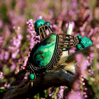 Chrysocolla boho necklace