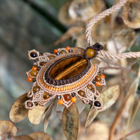 Autumn tiger eye necklace