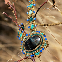 Blue tiger eye necklace