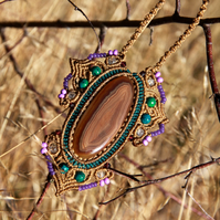Boho necklace with agate