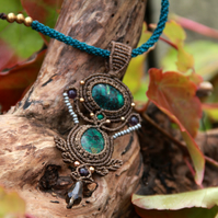 Boho medieval necklace with turquoise