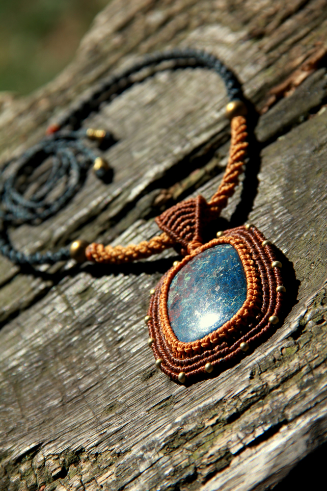 Neclace with chrysocolla
