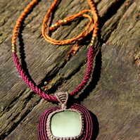 Purple necklace with jasper