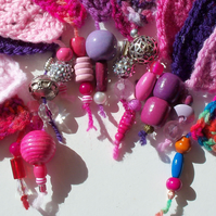 Purple & Lilac Bunting with Beads