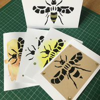 Handmade Manchester Bee Card 5 PACK