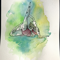 Bespoke Watercolour painting for Dancers-Yoga-Aerialists-Animals