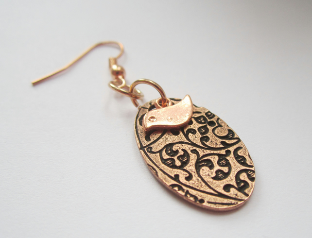 BIRDS & BEES rose gold earrings