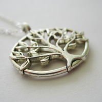 "SILVER TREE 16-18"" fine silverplated chain necklace"