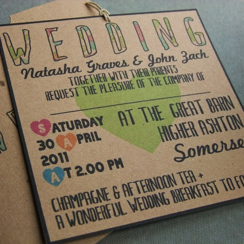 Eco Friendly Wedding Invitations With Rsvp Cards And Envelopes