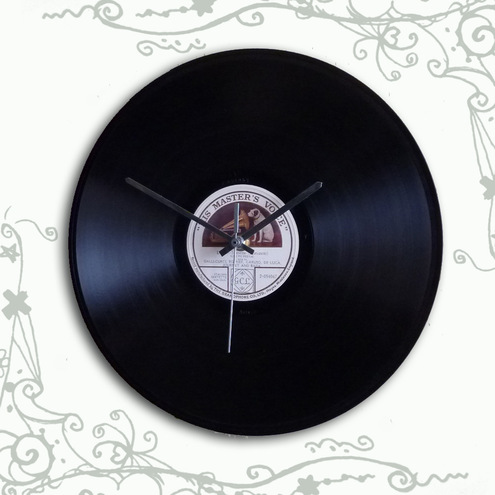 White Label His Masters Voice 78RPM Record Clock