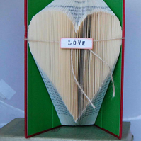 Book Art - Love . Heart