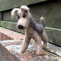 Needle Felted Terrier Ornament