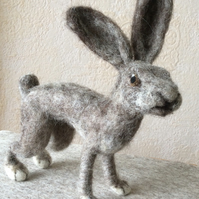 Needle Felted Hare Ornament
