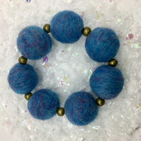 Wool Felted Bracelet