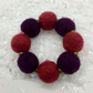 Wool Felted Bead bracelet