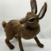 Hare - Original needle felted sculpture