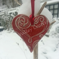 Ceramic - Red Love Heart