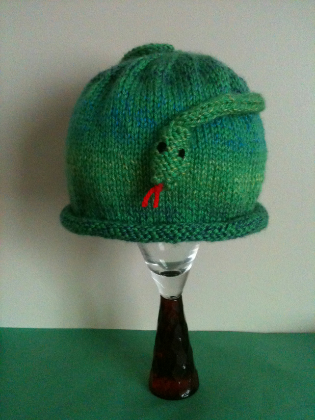 Snake knitted hat