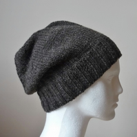 MADE TO ORDER men's hats - Guys slouchy beannie - Teens hand knitted hats