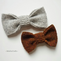 Father & son gift - British tweed bows (2) - Guys' wool bows
