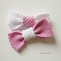 Twins gift set - Photo shoot bows - Mother & daughter present - Cotton bows