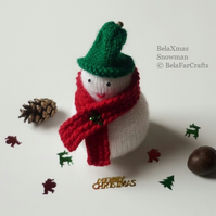 'BelaXmas snowman' - Fireplace decor - Xmas tree snowman - BelaFarCrafts UK