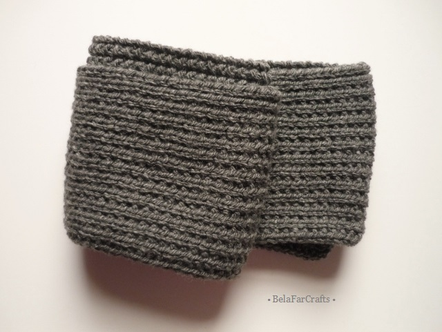 Charcoal grey thick scarf - Men's winter knitwear - Guys' neck scarf