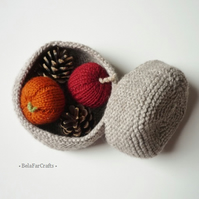 Knitted storage containers (2) - Home & Office organisers - Back to school gift