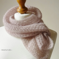 Dusky pink wedding scarf - Bride to be gift - Mohair shoulder wrap