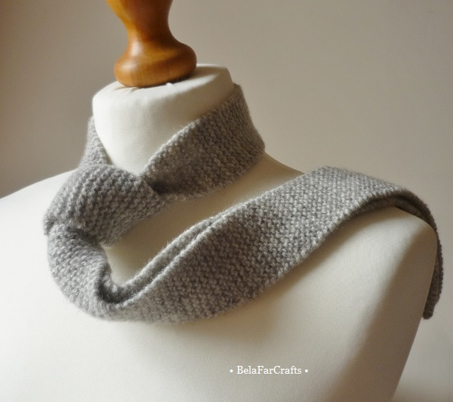 Scottish wool tie - Men's knit grey tie - Wool anniversary - Father's Day gift